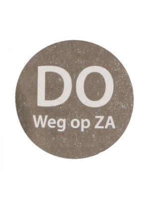 HACCP etiket Do weg op Za