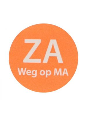 HACCP etiket Za weg op Ma