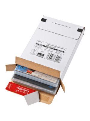 ColomPac® Brievenbusdoos met zijklep wit 259 x 364 x 23MM met plak- en scheurstrip