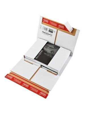 ColomPac® Boekverpakking wit 350 x 260 mm met dubbele plak- en scheurstrip