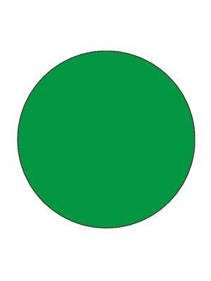 Etiket 30mm rond volvlak groen mc wik 1b rol a 1000
