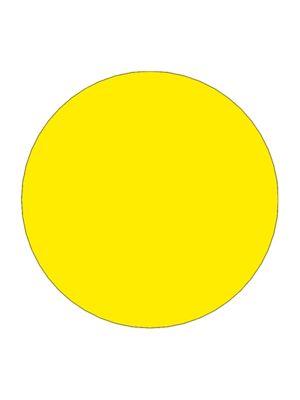 Etiket 30mm rond volvlak geel mc wik 1b rol a 1000