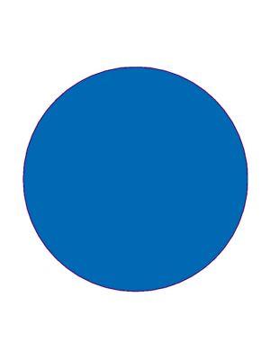 Etiket 30mm rond volvlak blauw mc wik 1b rol a 1000