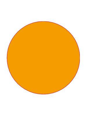 Etiket 30mm rond volvlak oranje mc wik 1b rol a 1000
