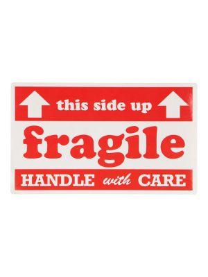 Etiket 127x76,2mm fragile wit mc wik 2b rol a 200