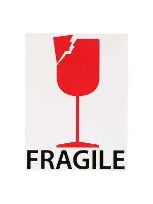 Etiket 76,2x101,6mm fragile wit mc wik 2b rol a 100