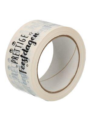 Tape pvc wit 50mmx66mtr Prettige Feestdagen