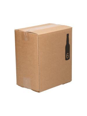 Doos 6 fles 207x137x238mm bc golf bierverpakking met vakverdeling