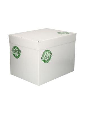 Doos isolatie 400x300x300 eco coolbox losse deksel compleet wit