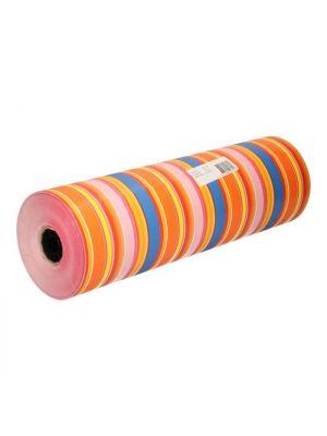 Cadeaupapier gestreept gekleurd 50 cm