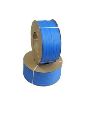 Strappingband pp blauw 15 mm x 1800 mtr met 280 mm kern