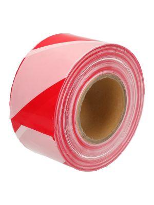 Afzetlint rood/wit diagonaal 7,5cm 500 mtr doos a 12 rol