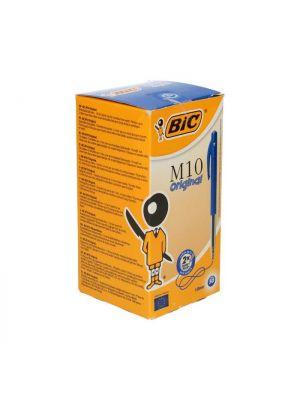 BIC M10 balpen met drukknop blauw