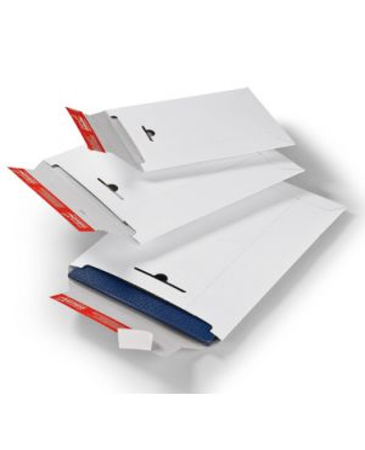 ColomPac® Verzendenvelop Massief wit 285 x 370 mm met plak- en scheurstrip