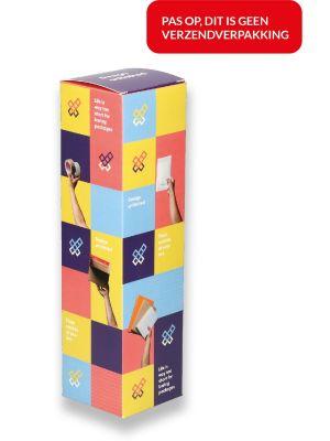 Fles- geschenkdoos (82 x 83 x 310) - Volledig bedrukt
