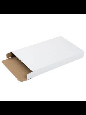 Brievenbusdoos A6 met zijklep wit 180 x 115 x 28 mm