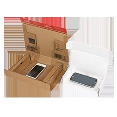 Verzenddozen smartphone, laptop, tablet